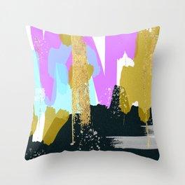 Golden mornings Throw Pillow