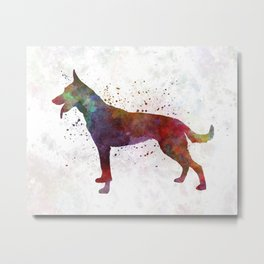 Dutch Shepherd Dog in watercolor Metal Print