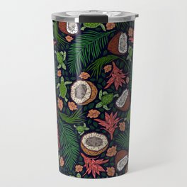 Tropical: Sea Turtles and Coconut Pattern Travel Mug