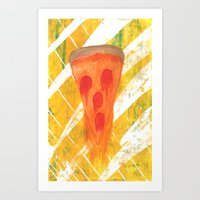 pizza Art Prints featuring Pizza by Angelz