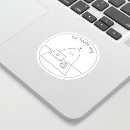 The TourBunny Circle Sticker
