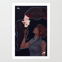 korrasami Art Prints featuring KorrAsami by senju-swag