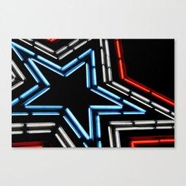 Neon Star Canvas Print