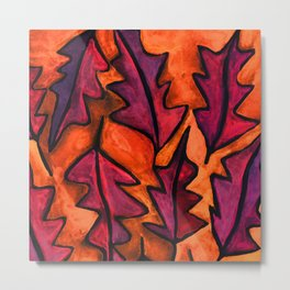 Autumn fire leaves Metal Print