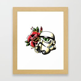Imperial Trooper Tattoo Flash Framed Art Print