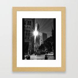 One World Trade Sunburst Framed Art Print