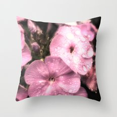 Soft rain drops Throw Pillow