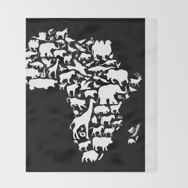 Animals of Africa Throw Blanket