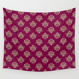 Golden Damask Wall Tapestry