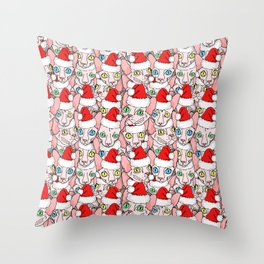 christmas sphynx Throw Pillow