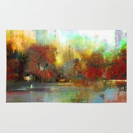 Afternoon autumnal in Central Park Rug