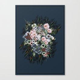 Moody floral on velvet Canvas Print