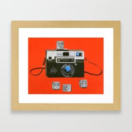 Instamatic Camera with Flashcubes Framed Art Print