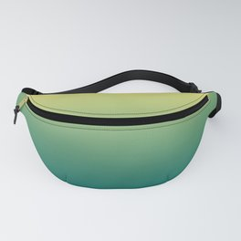 Yellow Lime Quetzal Green Ombre Gradient Pattern Fanny Pack