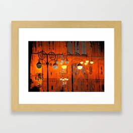 The Essence of Croatia - Zagreb Night Lights Framed Art Print