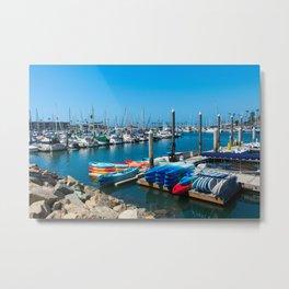 Kayaking in Oceanside Metal Print