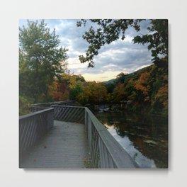 Madam Brett Park in Autumn - Beacon NY Metal Print