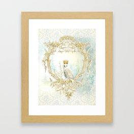 Owl Let it Snow Framed Art Print