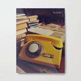 Library Phone Metal Print