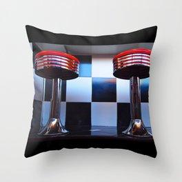 Stools Americana Throw Pillow