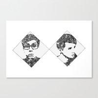 danisnotonfire Canvas Prints featuring Danisnotonfire & AmazingPhil by xzwillingex