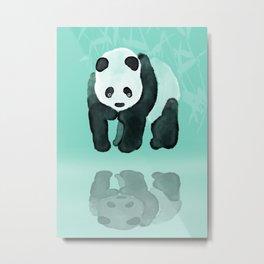 Panda meets Panda Metal Print
