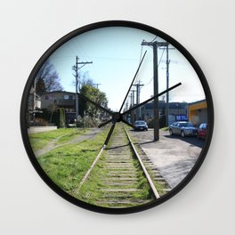 Train tracks near Arbutus Wall Clock