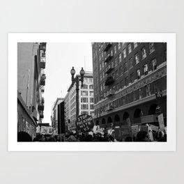 Protest - DTLA Art Print