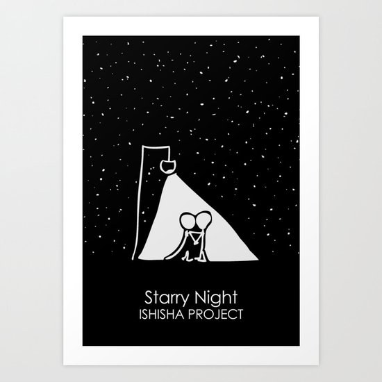 Starry Night by ISHISHA PROJECT Art Print