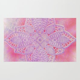 bright and sizzling lace star Rug