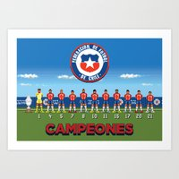Chile Copa América Champions 2015 Art Print
