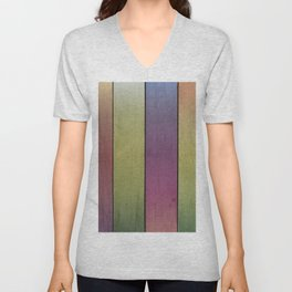 Wood Plank Colormix Unisex V-Neck