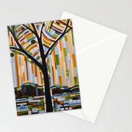 Abstract Art Landscape Original Painting ... Enchanted Nights Stationery Cards