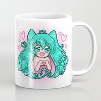 vocaloid Mugs featuring Vocaloid: Love Miku by Alice In Underwear
