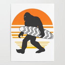 Bigfoot Surfing, Hide Seek and Go Surf  Poster