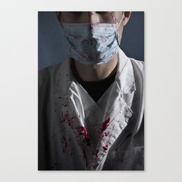 evil doctor Canvas Print