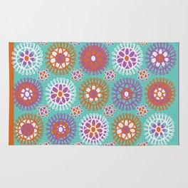 Bright Flower Doodles Rug