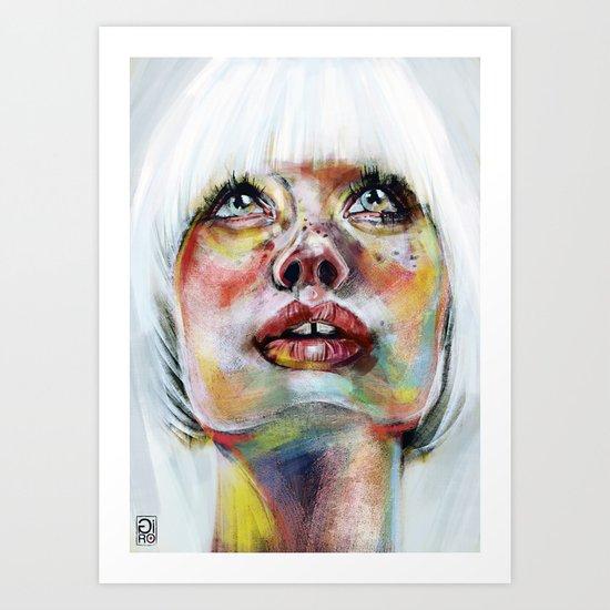 """Glowing 3"" Art Print"