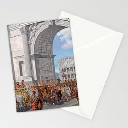 Classical Masterpiece: Roman Legion in Triumphal Procession by Herbert Herget Stationery Cards