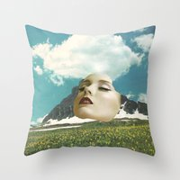 rushmore Throw Pillows featuring Mount Rushmore by Jordan Clark