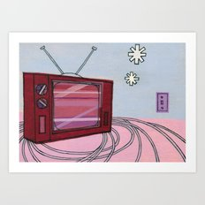 Winter T.V. Art Print