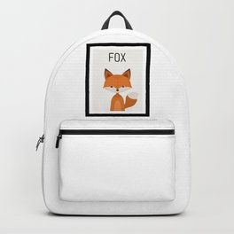 Fox Cartoon Portrait Backpack