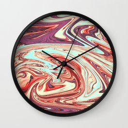 Abstract Texture Pattern 03 - Marbled Wall Clock