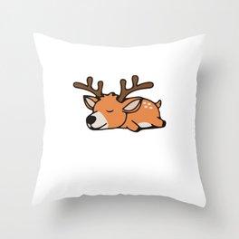 Slumber Deer Animal Party Shirt Sleepover Pajama Girl Women Throw Pillow