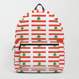 Flag of Lebanon-Lebanese,لبنان ,liban,libanais,beirut,cannaanite,phienician. Backpack