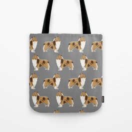 Rough Collie pet portrait custom dog breed gifts for collie owner by pet friendly Tote Bag
