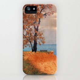 Autumn by the sea iPhone Case