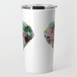 Love - Original Sea Glass Heart Travel Mug