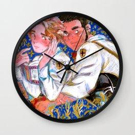 of knights and princes Wall Clock