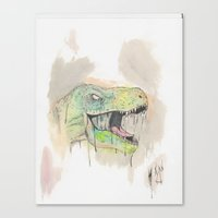 t rex Canvas Prints featuring T-Rex by BijanSouri